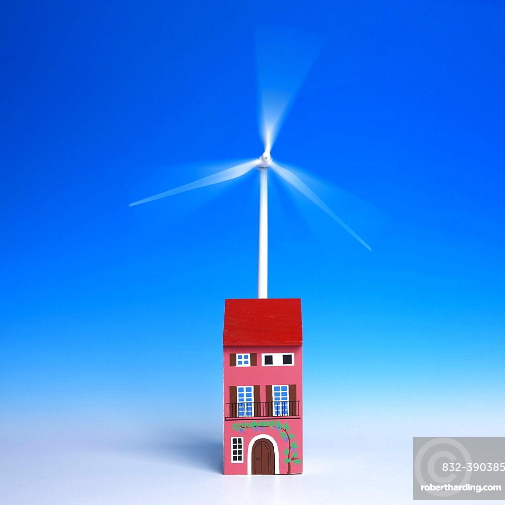 Miniature wind turbine