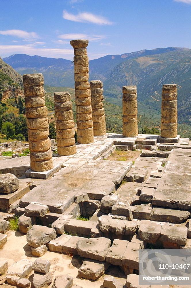 Temple of Apollo, Delphi, Greece, Europe