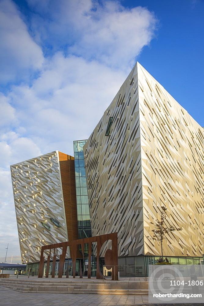 United Kingdom, Northern Ireland, Belfast, View of the Titanic Belfast museum