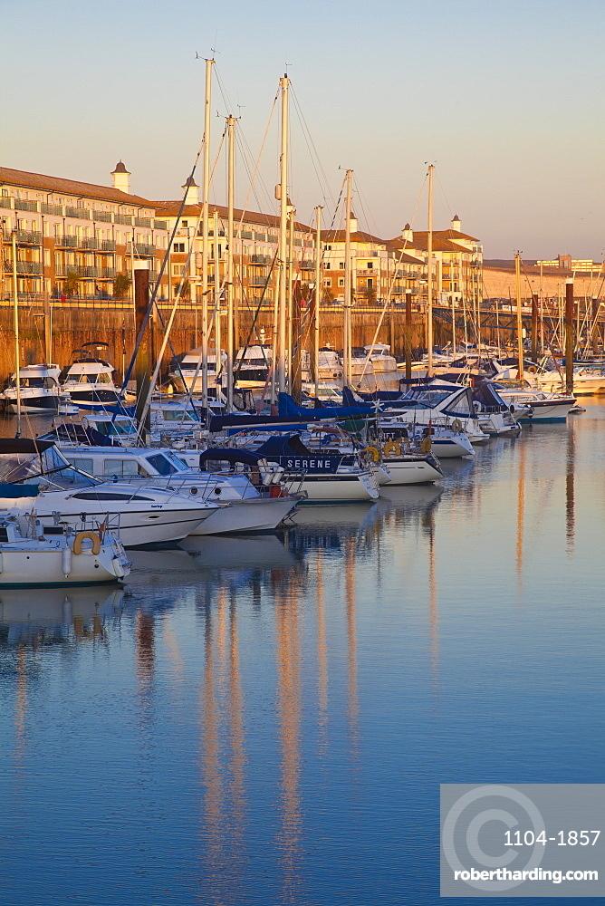 UK, England, Sussex, Brighton, Brighton marina