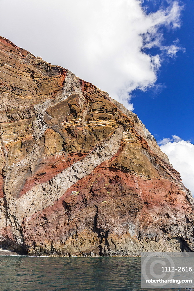 A view of the island of Deserta Grande, in the Ilhas Desertas, near the city of Funchal, Madeira, Portugal, Atlantic, Europe
