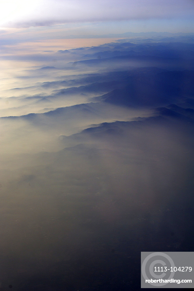 Alps, aerial view