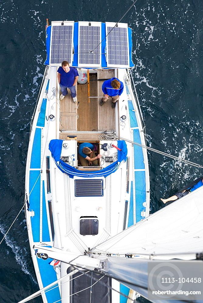 Crew on a sailing boat, Pula, Istria, Croatia