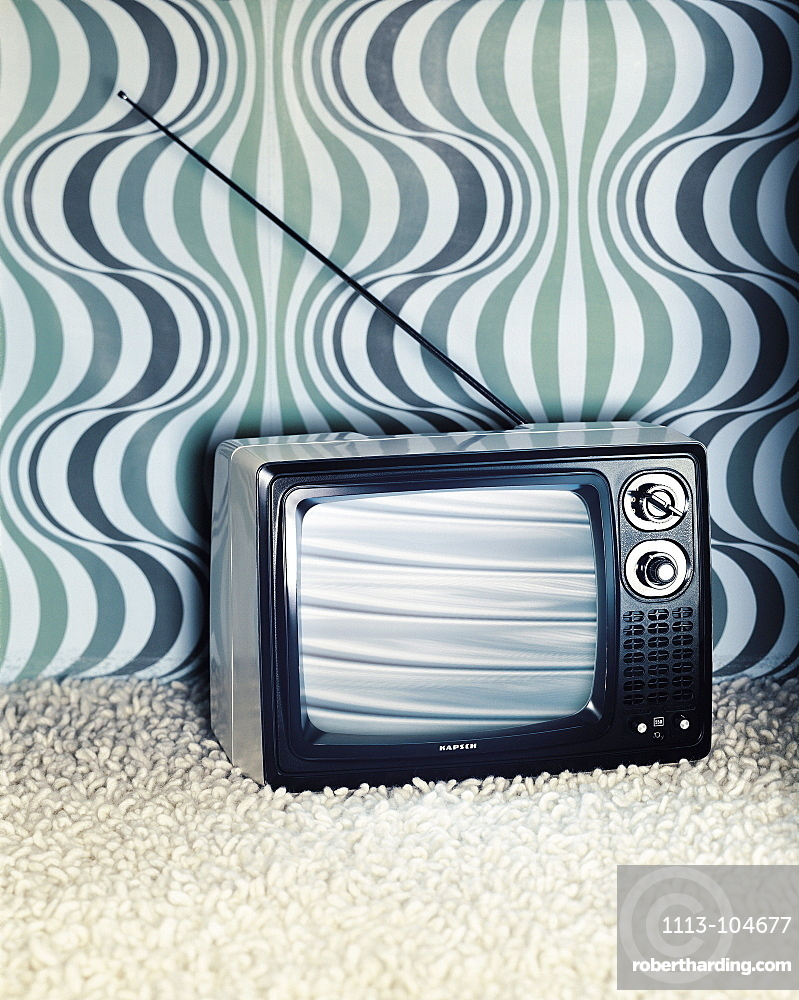 Old TV on the carpet, Retro, Technology
