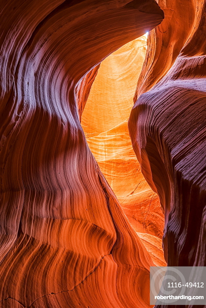 Antelope Canyon, a slot canyon of Navajo Sandstone, Page, Arizona, United States of America