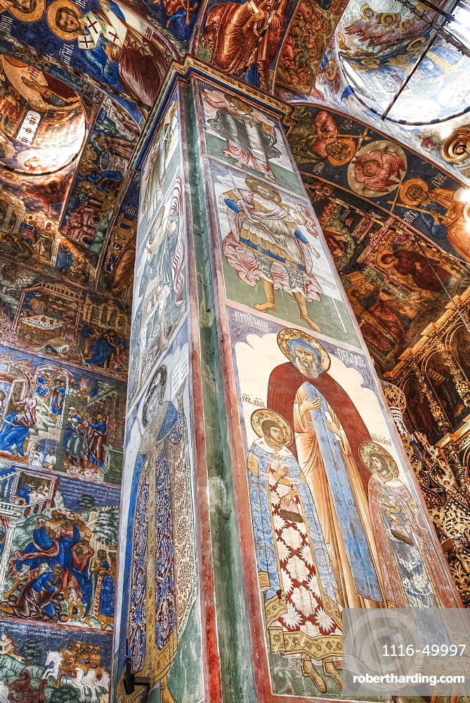 Fresco, Church of Elijah the Prophet; Yaroslavl, Yaroslavl Oblast, Russia