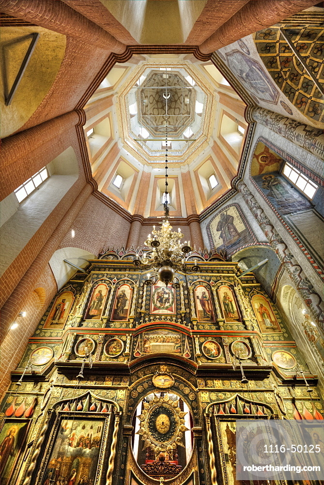 St Basil's Cathedral, interior view of altar and dome; Moscow, Russia