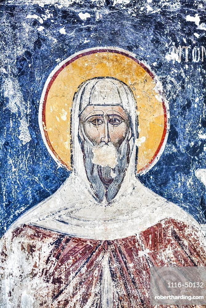 Original Fresco, 17th Century, Church of the Holy Apostles, 10th Century,  Ancient Agora; Athens, Greece