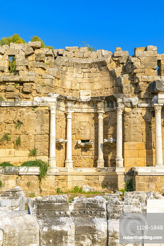 State Agora, Side, Antalya Province, Turkey, Asia Minor, Eurasia