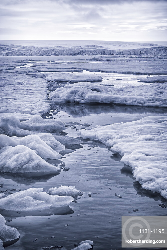 Ice on Hinlopen Strait, Norway, Europe