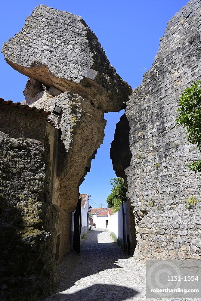 Castle entrance, Serpa, Alentejo, Portugal, Europe