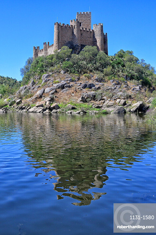 Almourol Castle on the Tagus River, Ribatejo, Portugal, Europe