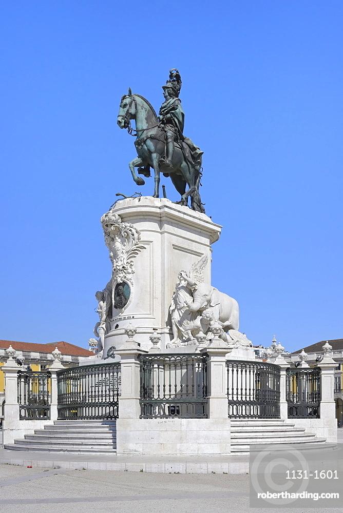 King Jose I equestrian statue, Praca do Comercio, Baixa, Lisbon, Portugal