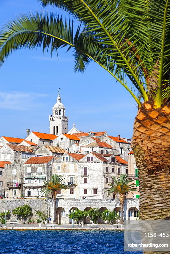 Picturesque Old Town Korcula and harbour, Korcula, Dalmatia, Croatia, Europe