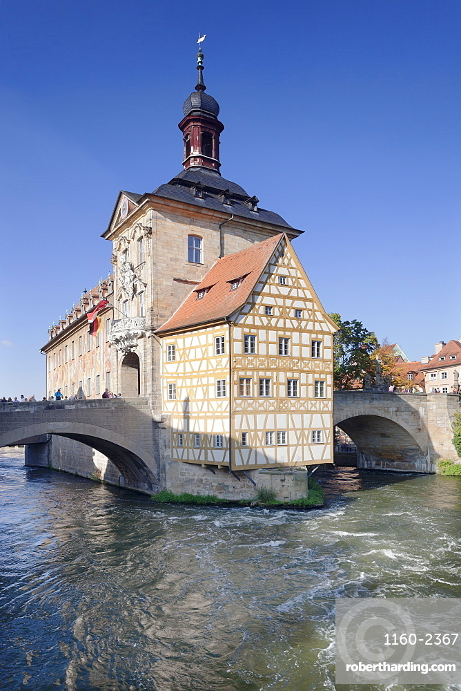 Old Town Hall, UNESCO World Heritage Site, Regnitz River, Bamberg, Franconia, Bavaria, Germany, Europe