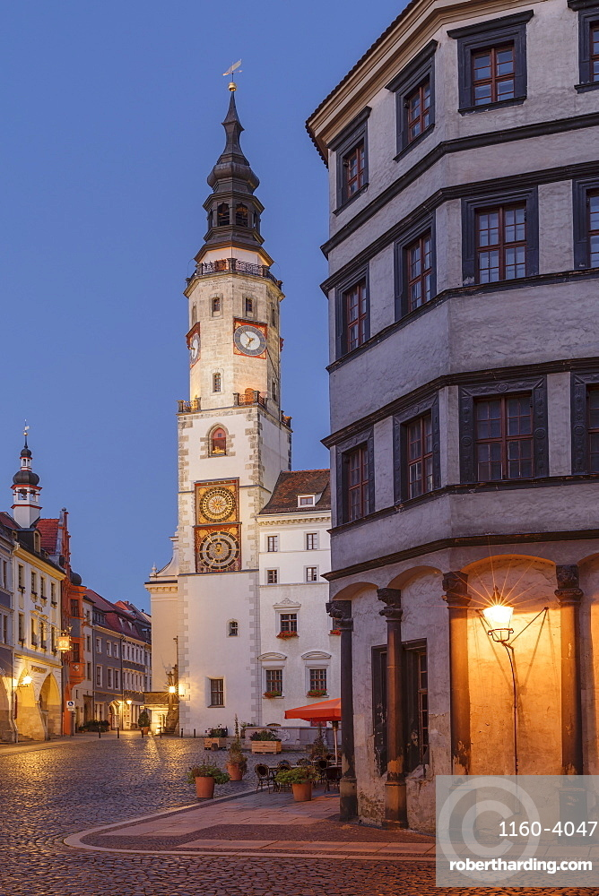 Old town hall at Untermarkt Square, Goerlitz, Saxony, Germany, Europe