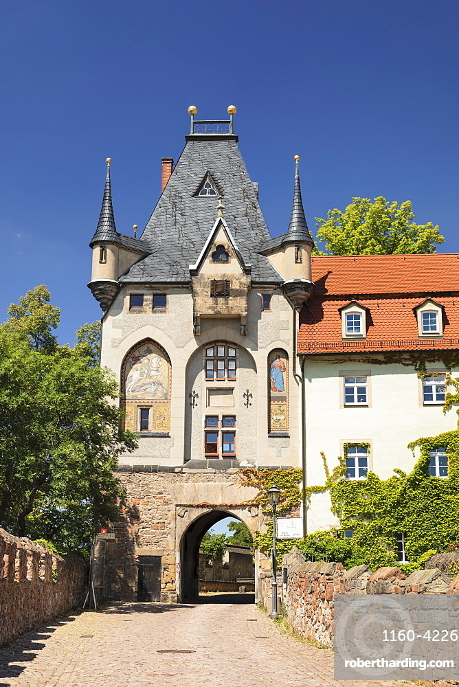 Torhaus Tower at Burgberg Hill, Meissen, Saxony, Germany, Europe