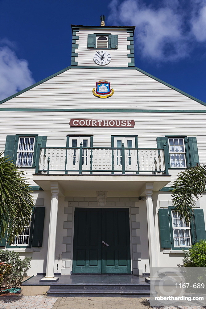 Courthouse, Philipsburg, St. Maarten (St. Martin), West Indies, Caribbean, Central America