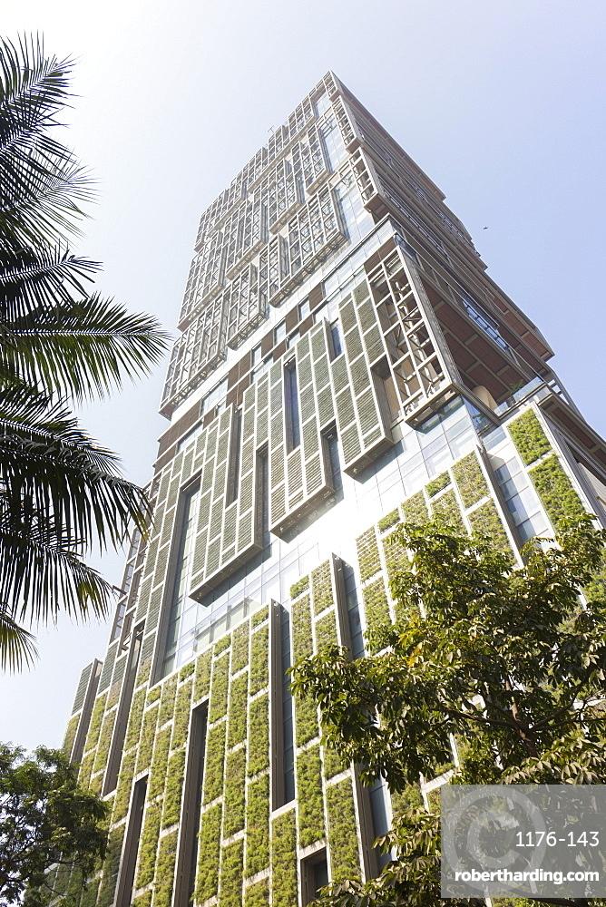Antilia, the Ambani building, most expensive private property in the world, Mumbai, Maharashtra, India, Asia