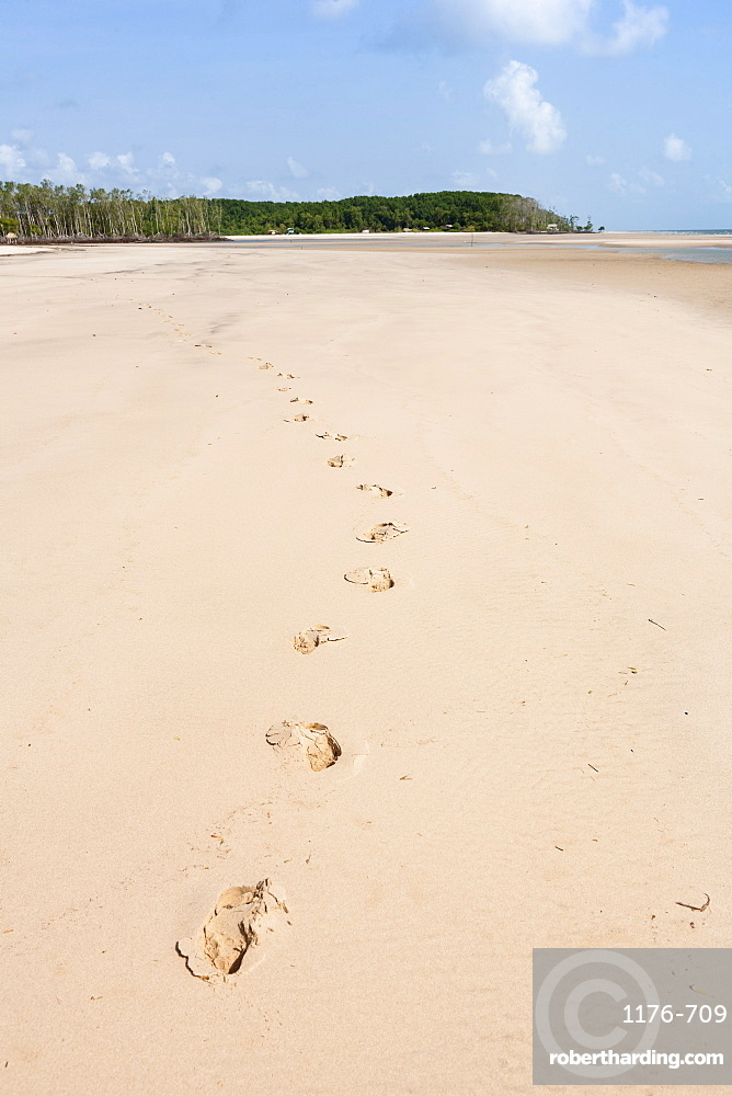 Beach on Marano Island in the Brazilian Amazon, Brazil, South America