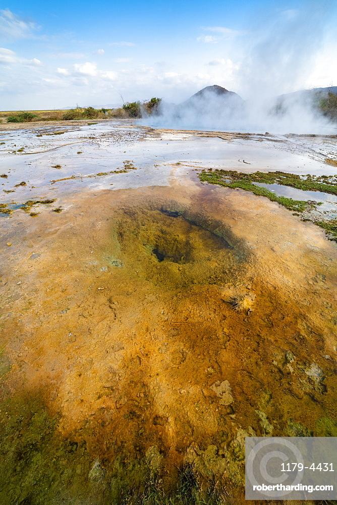 Ala Lobet (Alol Bet) geyser erupting, Semera, Afar Region, Ethiopia, Africa