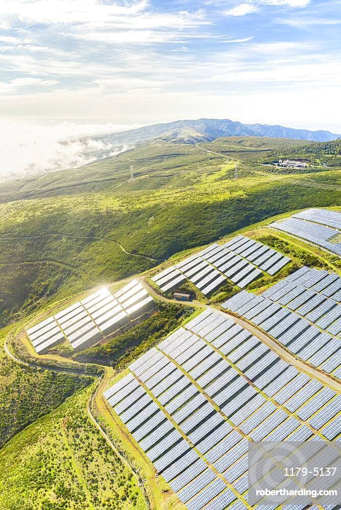 Solar panels, Encumeada, Madeira island, Portugal