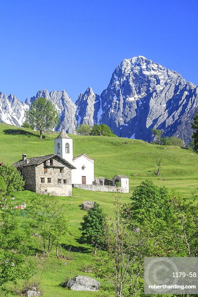The fairy tale landscape of Daloo, a tiny mountain village in Valchiavenna, Lombardy, Italy, Europe
