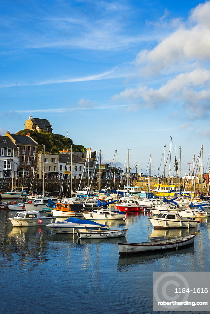 Boat harbour of Ifracombe, North Devon, England, United Kingdom, Europe
