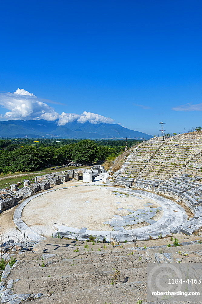 Amphitheatre, Unesco world heritage site Philippi, Macedonia, Greece