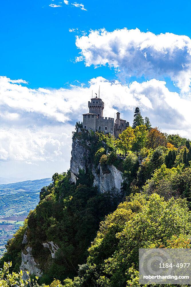 Falesia Second Tower, historic center, Unesco world heritage site San Marino, Italy