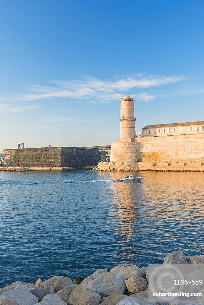 Fort Saint Jean, Marseille, Bouches du Rhone, Provence, Provence-Alpes-Cote d'Azur, France, Mediterranean, Europe