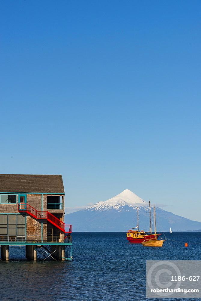 Llanquihue and Volcan Osorno, Puerto Varas, Chilean Lake District, Los Lagos, Chile, South America