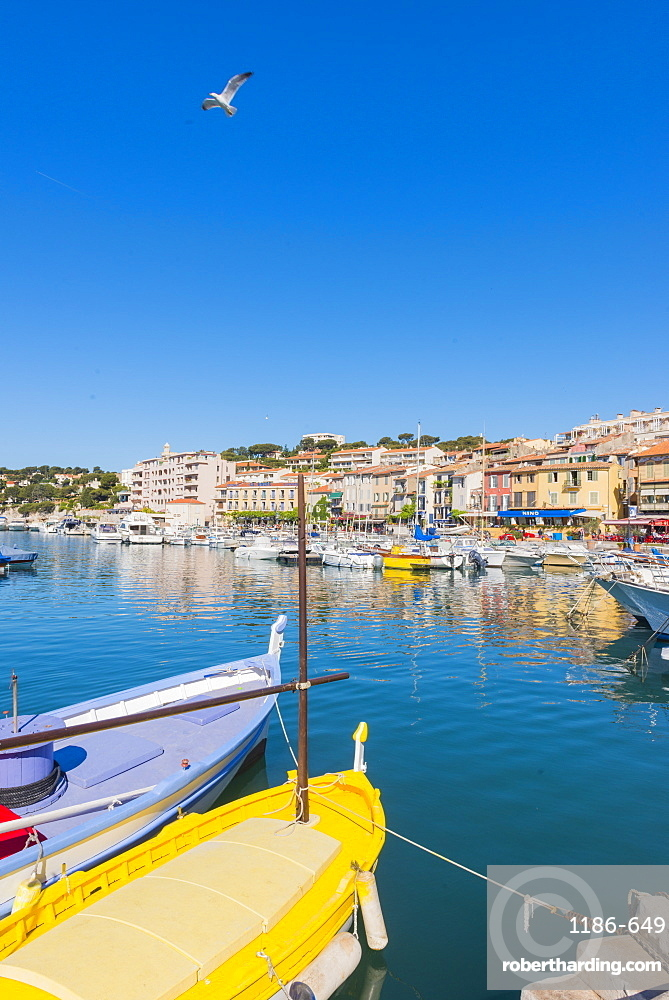 Boats in Cassis harbour, Bouches du Rhone, Provence, Provence-Alpes-Cote d'Azur, French Riviera, France, Mediterranean, Europe