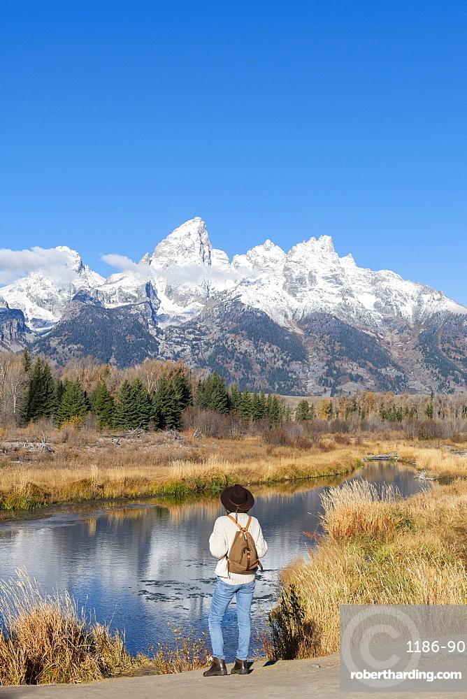 Schwabacher landing, Teton Range, Grand Teton National Park, Wyoming, United States of America, North America