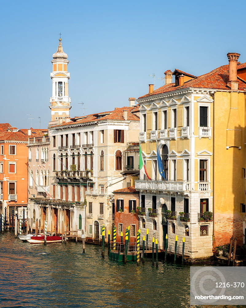 Buildings on Grand Canal in Venice, Italy, Europe