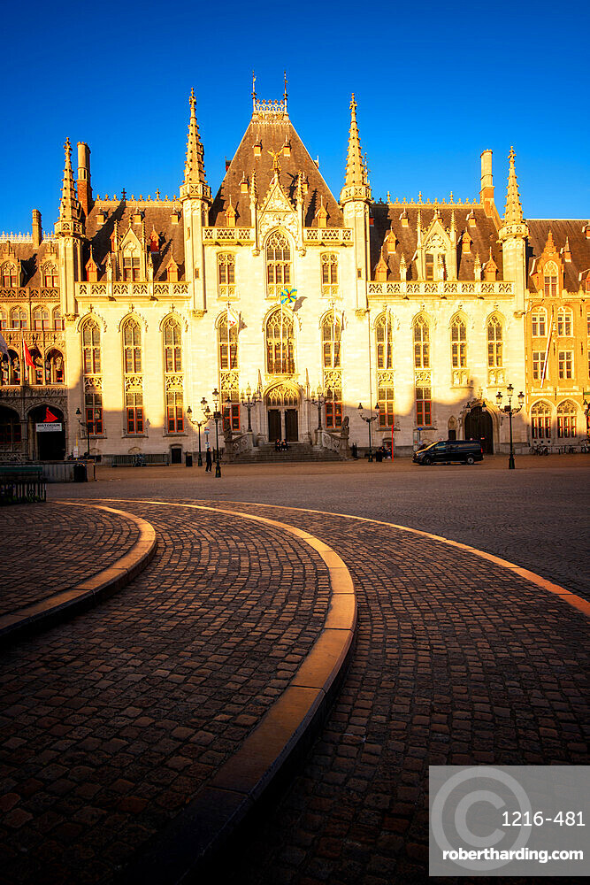 Provinciaal Hof (Province Court) on Markt square, Bruges (Brugge), West Flanders (Vlaanderen), Belgium, Europe