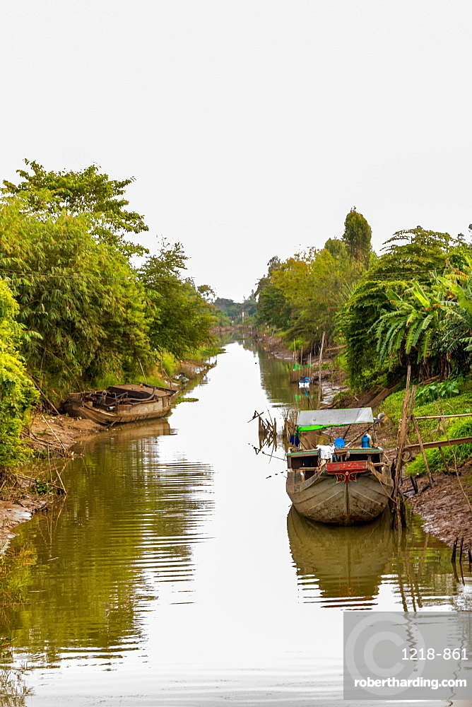 Village life on the Mekong Delta, Vietnam, Indochina, Southeast Asia, Asia