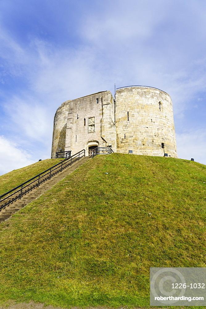 Clifford's Tower, York Castle, York, North Yorkshire, England, United Kingdom
