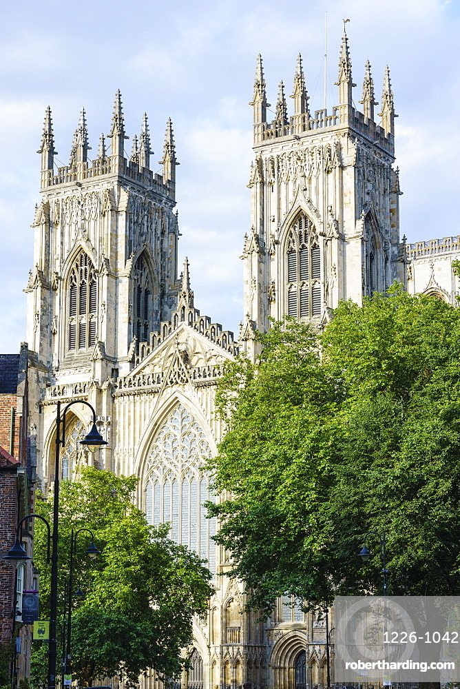 York Minster, one of the largest medieval cathedrals in Europe, York, North Yorkshire, England, United Kingdom