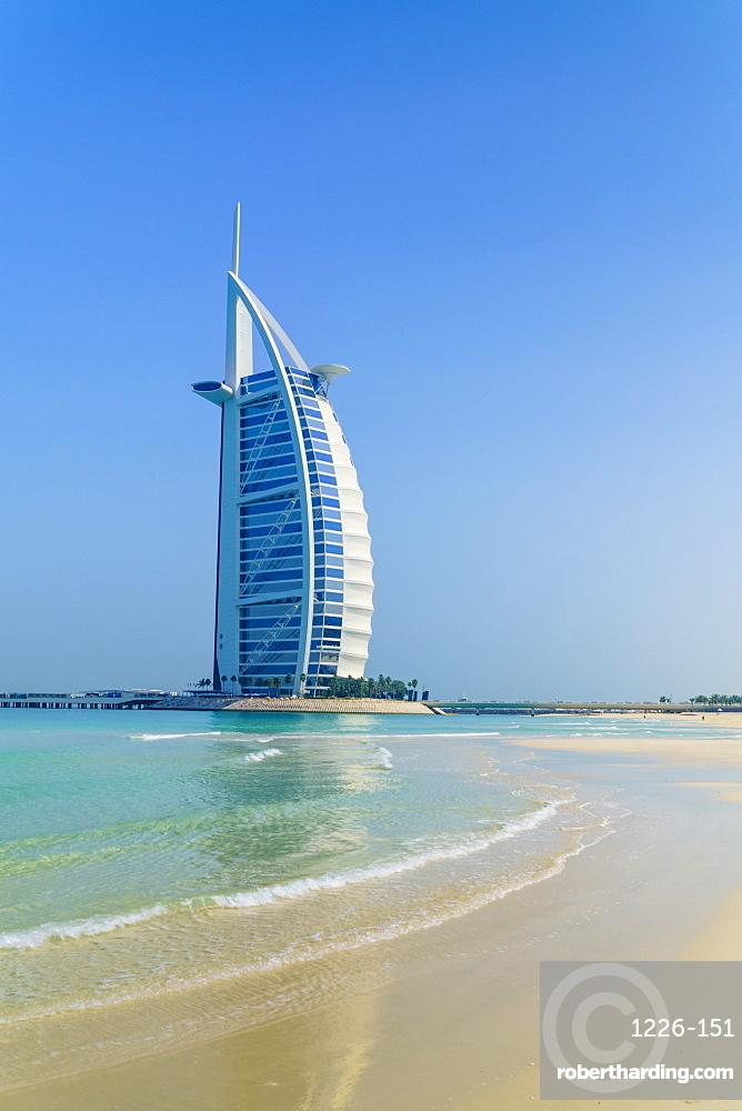 Burj Al Arab hotel, iconic Dubai landmark, Jumeirah Beach, Dubai, United Arab Emirates, Middle East
