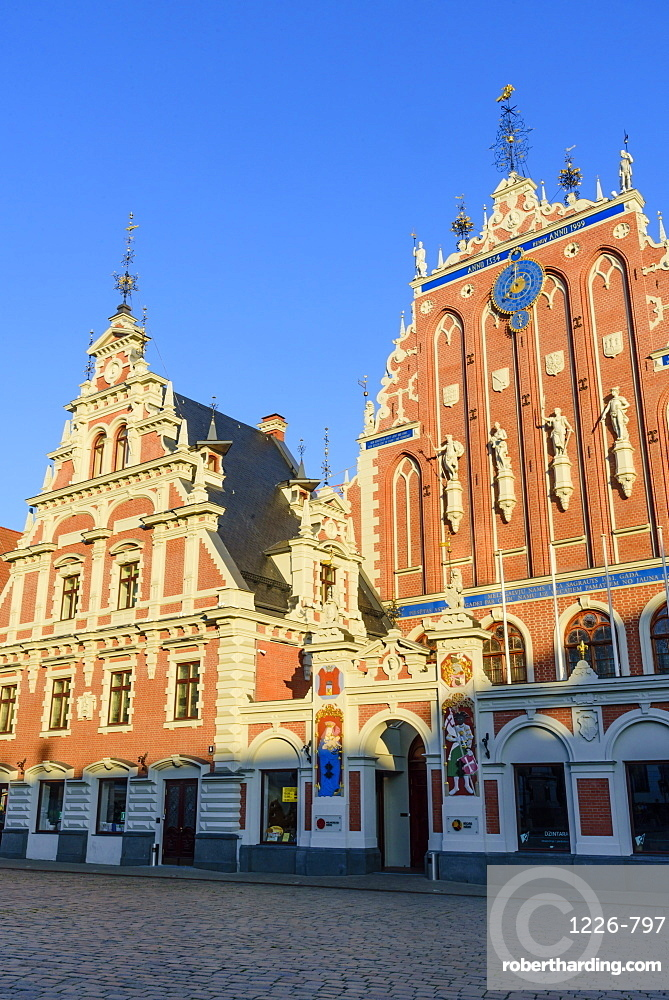 House of Blackheads, Town Hall Square, UNESCO World Heritage Site, Riga, Latvia, Europe