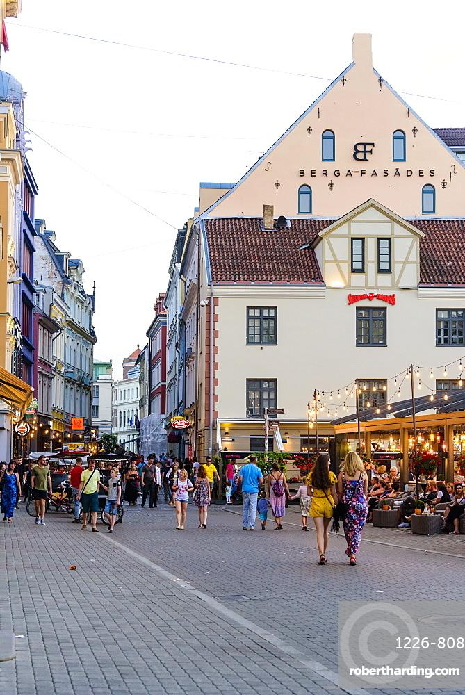 Kalku Street, Old Town, UNESCO World Heritage Site, Riga, Latvia, Europe