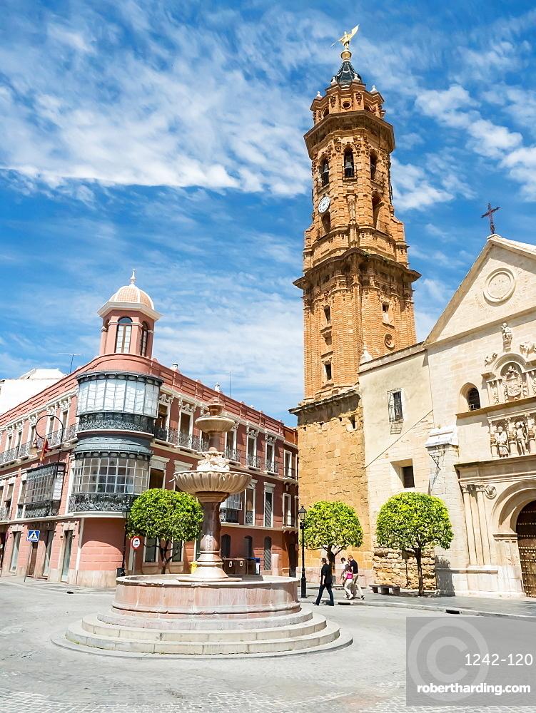 The 16th century church of San Sebastian, Antequera, Andalucia, Spain, Europe