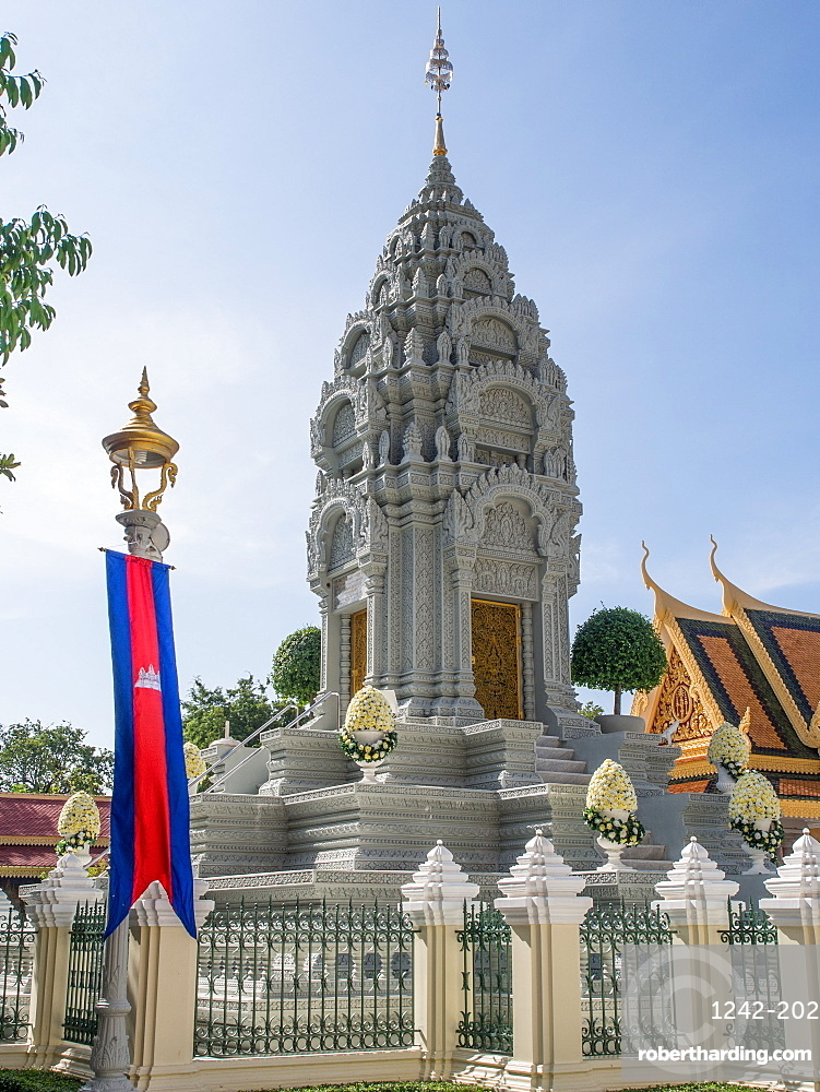 Tomb of the king's late sister, Royal Palace, Phnom Penh, Cambodia, Indochina, Southeast Asia, Asia