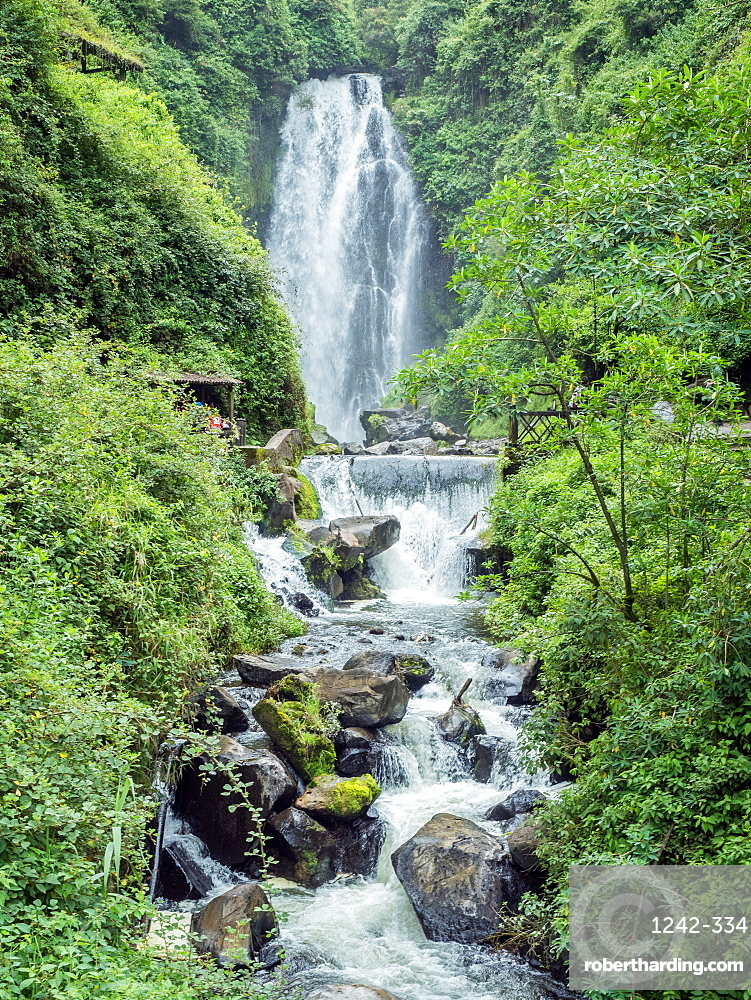 Peguche Waterfall, near Otavalo, Ecuador, South America