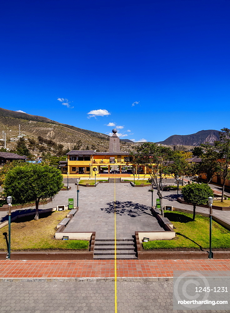 Equator Line, Ciudad Mitad del Mundo (Middle of the World City), Pichincha Province, Ecuador, South America