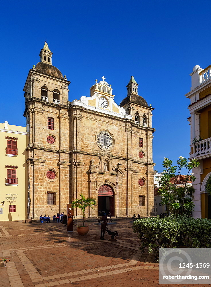 San Pedro Claver Church, UNESCO World Heritage Site, Cartagena, Bolivar Department, Colombia