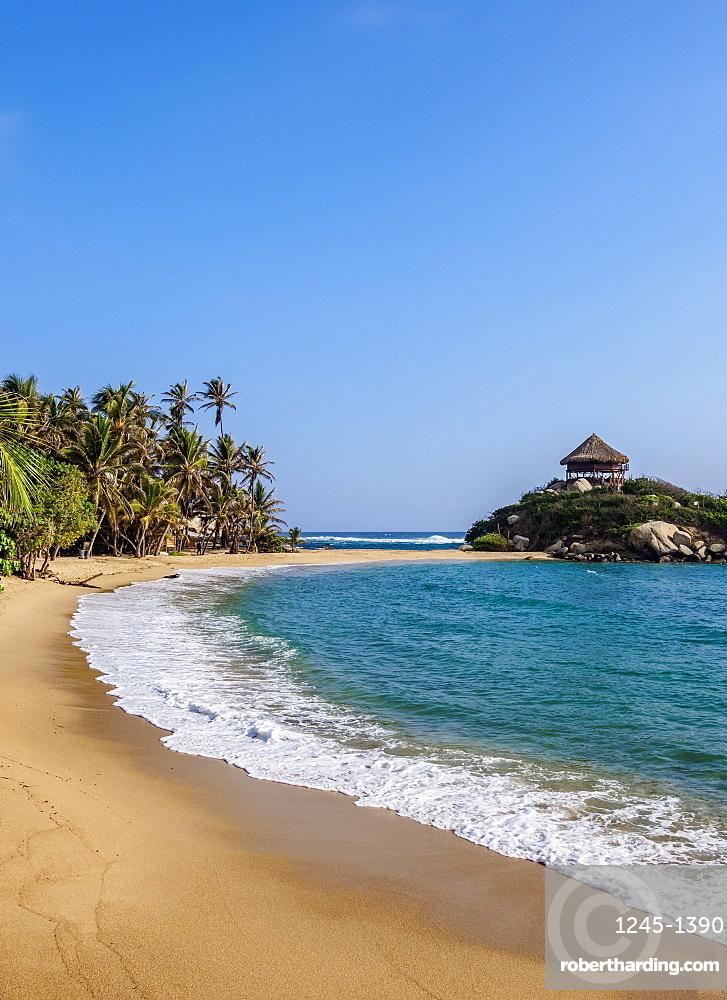 El Cabo San Juan del Guia beach, Tayrona National Natural Park, Magdalena Department, Caribbean, Colombia, South America