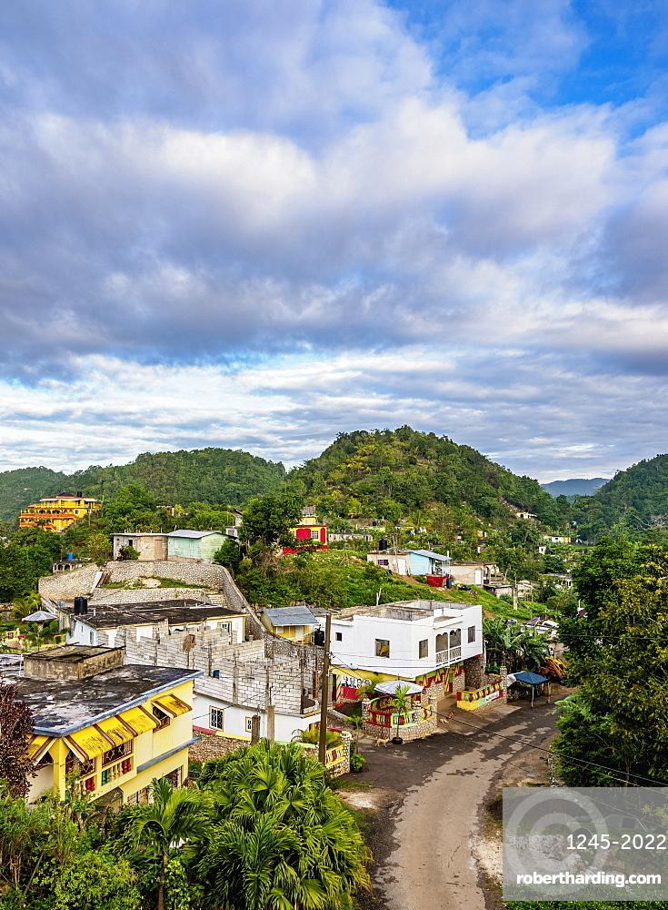 Nine Mile, Bob Marley's birthplace, elevated view, Saint Ann Parish, Jamaica