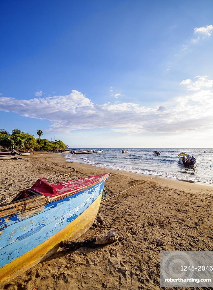 Fishing Boats at Frenchman's Beach, Treasure Beach, Saint Elizabeth Parish, Jamaica